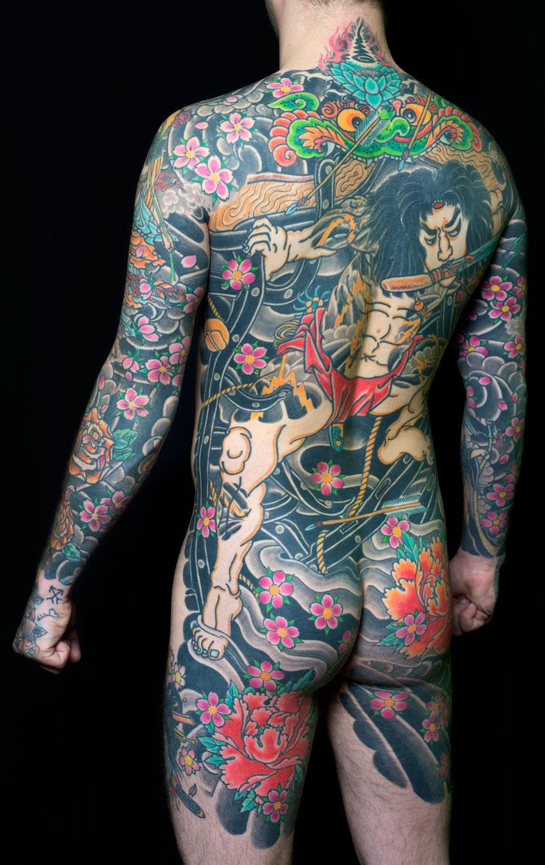 Японские тату фото тело