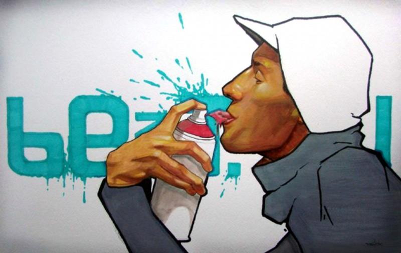 Граффити польского художника Пржемека Блейжика