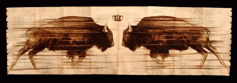 Майкл Аарон Уильямс: оживший картон и кофейная живопись