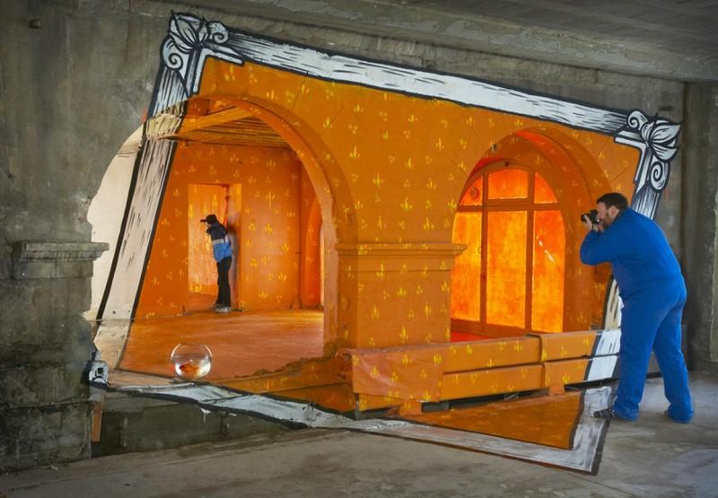 Элла и Питр. Психоделические граффити на улицах Франции