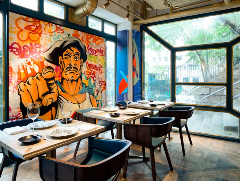 Стрит-арт в ресторане Bibo