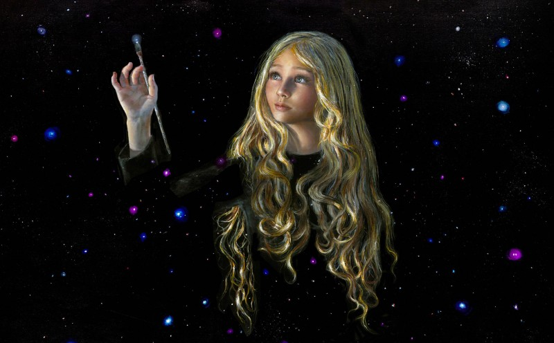 Юная художница Акиана Крамарик