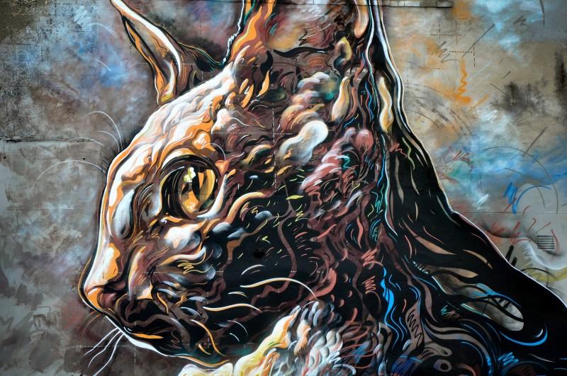 Трафаретное граффити C215