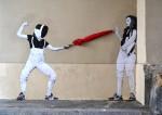 Стрит-арт | Levalet | Jeu de dupes