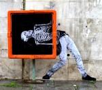 Стрит-арт | Levalet | Danse macabre