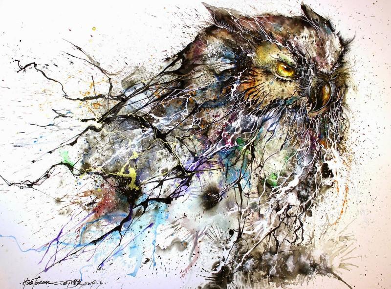 Чернильные брызги на картинах Хуа Тунань