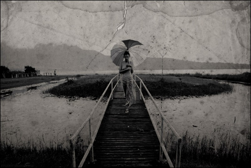 Драматичные снимки. Евгений Шаман