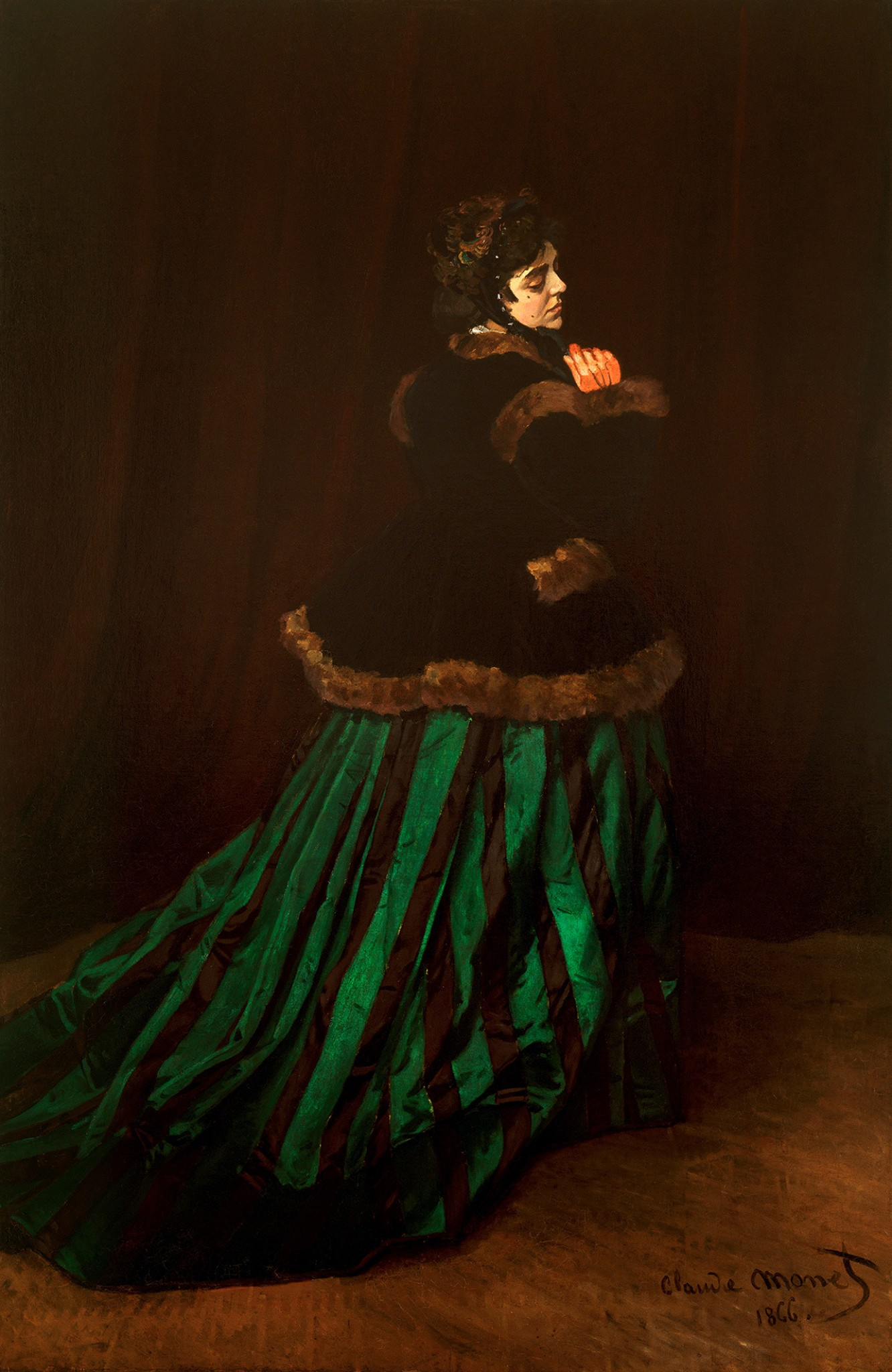 Claude Monet «Дама в зелёном»