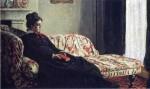 Живопись | Клод Моне | Размышление. Мадам Моне на диване, 1870-71