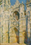 Живопись | Клод Моне | Руанский Собор, Главный Вход и Тур д'Альбан на солнце
