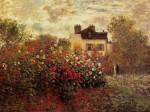 Живопись | Claude Monet | Сад в Аржантее (Георгины)