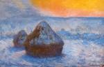 Живопись | Клод Моне | Стога Сена на Закате. Эффект Снега