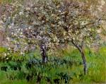 Живопись | Claude Monet | Яблони в цвету в Живерни