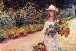 Живопись | Клод Моне | Девушка в саду Живерни, 1888