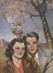 Живопись | Francis Picabia | Портрет пары (Вишневое дерево) 1942-1943