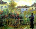 Живопись | Пьер Огюст Ренуар | Клод Моне, работающий в своем саду, 1873