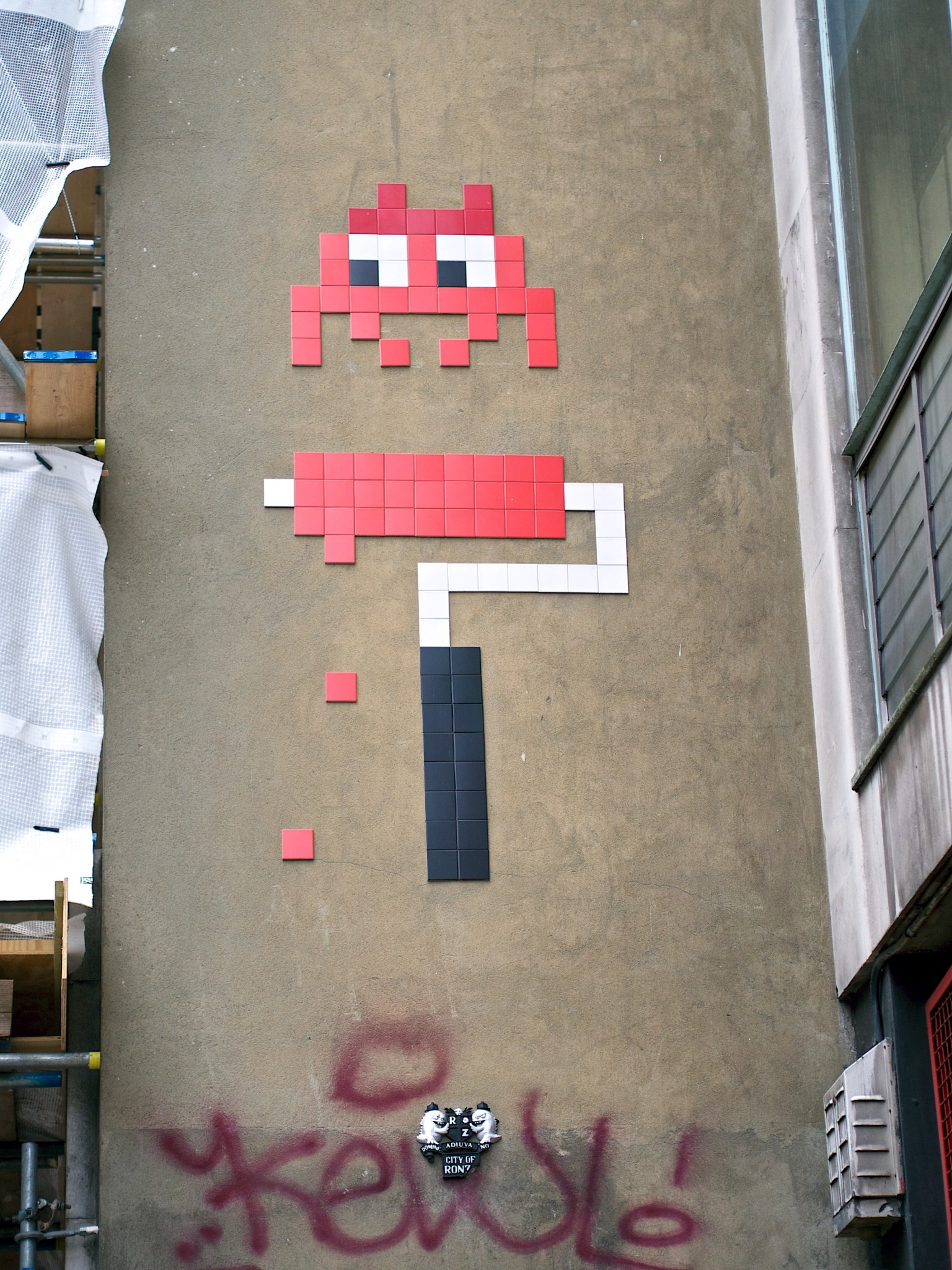 the invasion of the art works of the french urban artist invader Invader (born is a french urban artist who pastes up characters from and inspired by the 1978 arcade game space invaders game, made up of small colou  photos space invaders invader art day volavida gallery presents street invasion french artist space invadersphotos space invaders on the 13 awesome street artists (who aren't banksy) - matador.
