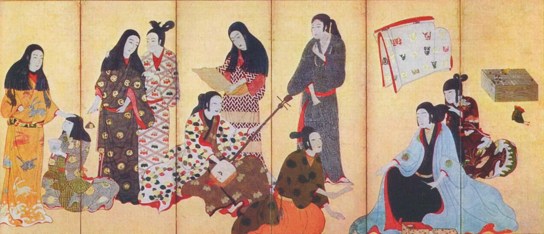Кимоно. Период Эдо. Начало XVII века