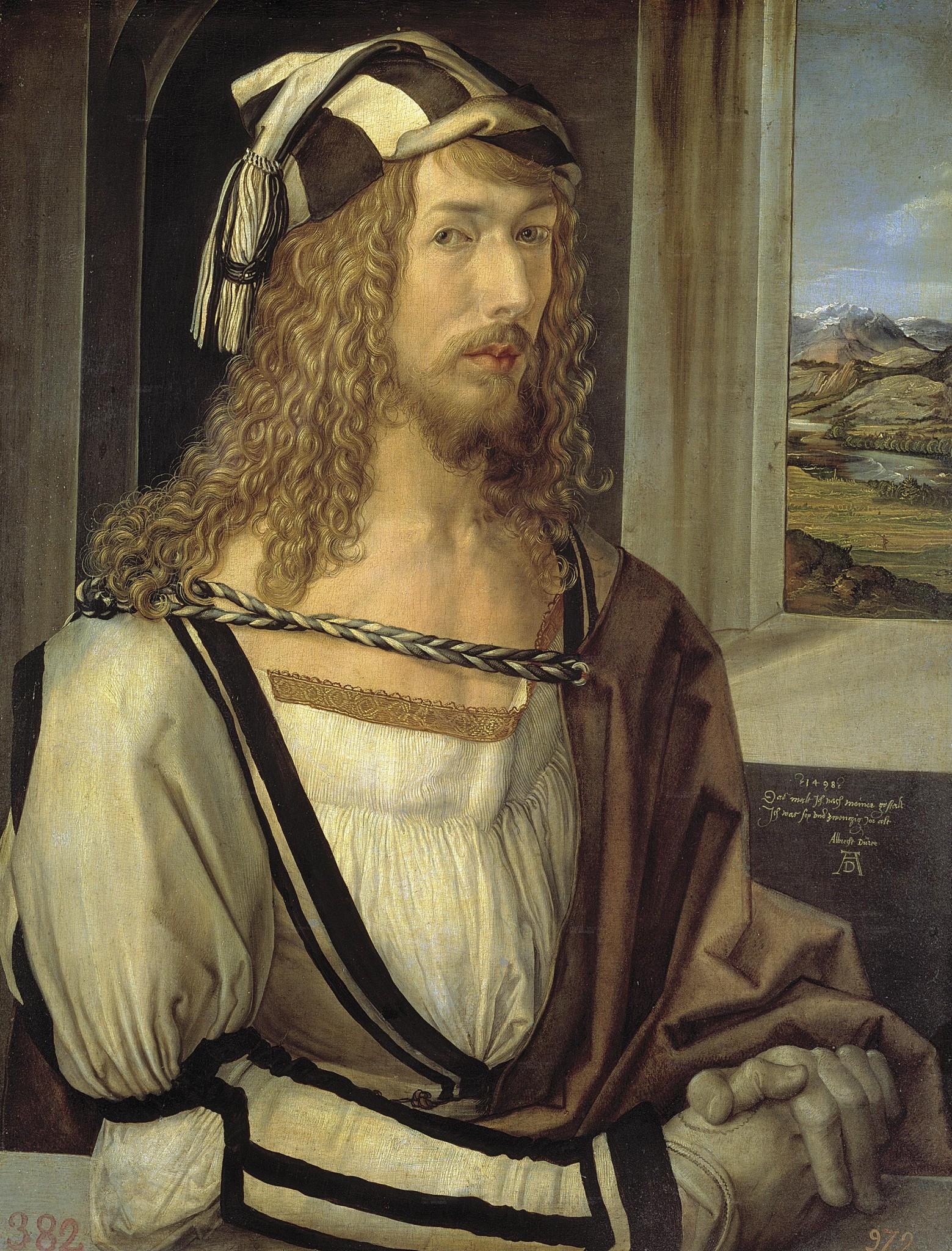 Albrecht Dürer (1498. Автопортрет в 26 лет)
