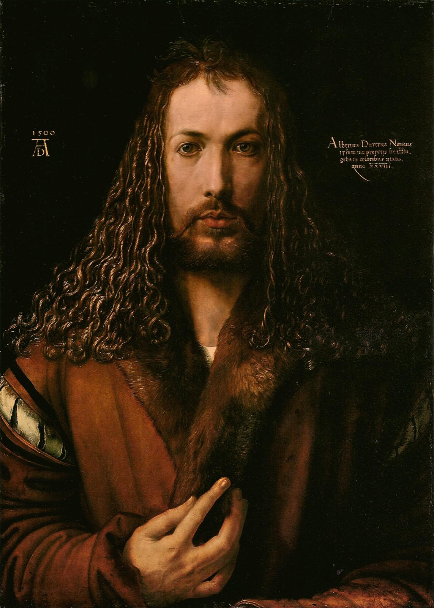 Albrecht Dürer (1500. Автопортрет в 28 лет)
