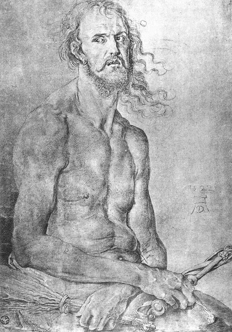 Albrecht Dürer (1522 . Автопортрет как Муж скорбей)