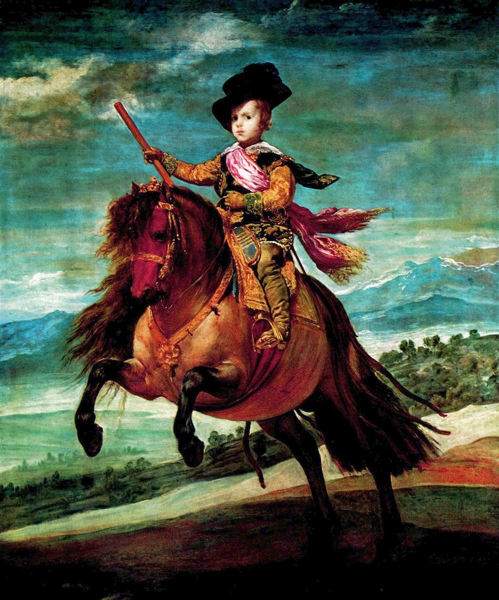 Diego Velázquez (Prince Balthasar Carlos on horseback. 1634)