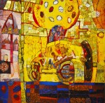 Живопись | Иван Гончаренко | Путешествие на желтом шаре в жару