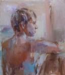 Живопись | Нелина Трубач-Мошникова | The portrait of young man