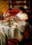 Живопись | James Ensor | La mangeuse d'huîtres. 1881