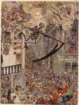 Живопись | James Ensor | La muerte persigue al rebaño humano. 1896