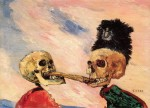 Живопись | James Ensor | Skeletons Fighting Over a Pickled Herring. 1891