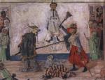 Живопись | James Ensor | Skeletons Fighting over a Hanged Man.1891