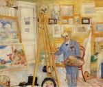 Живопись | James Ensor | The Skeleton Painter. 1896
