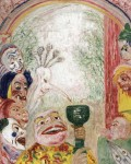 Живопись | James Ensor | The Song of the Wine, also known as Thirsty Masks. 1935