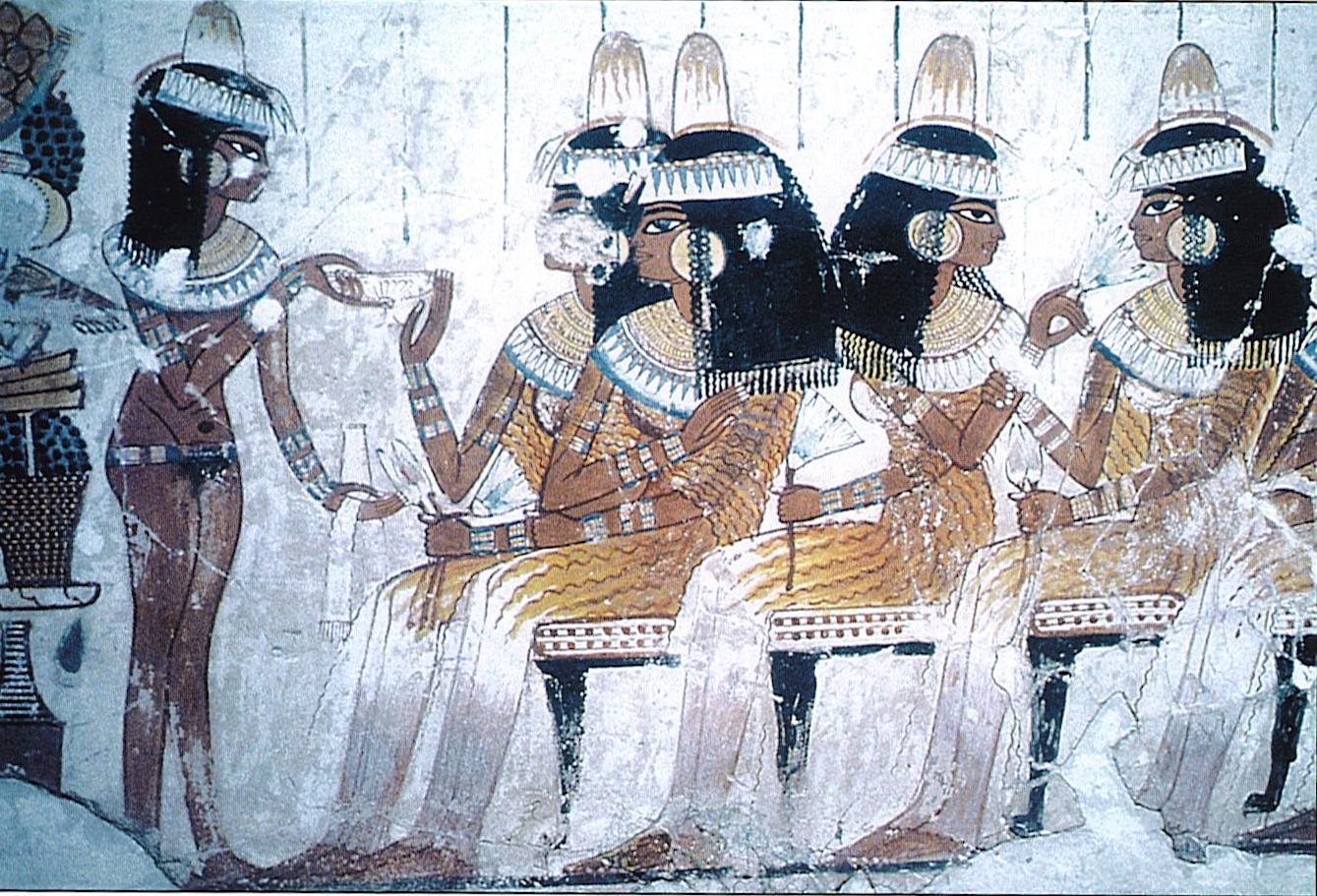 Знатные дамы на погребальном банкете
