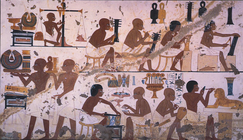 Мастерская изящных предметов при дворе Аменхотепа Третьего (1400 в до н.э.)