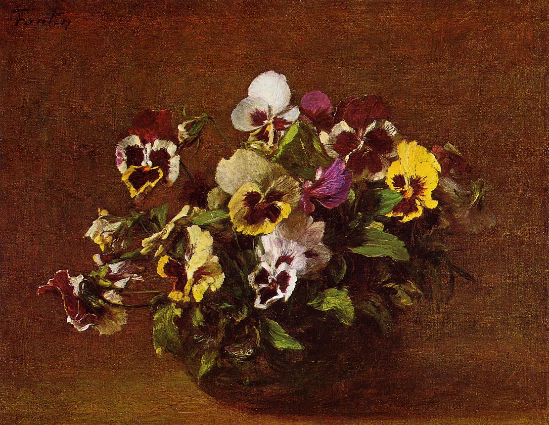 Художник рисовал цветы