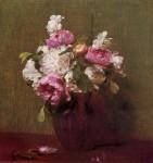 Живопись | Анри Фантен-Латур | White Peonies and Roses, Narcissus