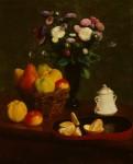 Живопись | Анри Фантен-Латур | Flowers and Fruit, 1866
