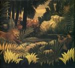 Живопись | Анри Руссо | Джунгли со львом