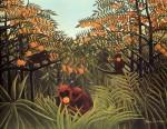 Живопись | Анри Руссо | Обезьяны в апельсиновой роще