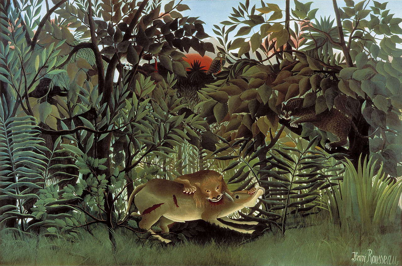 Henri Rousseau (The Hungry Lion Throws Itself on the Antelope. 1905)