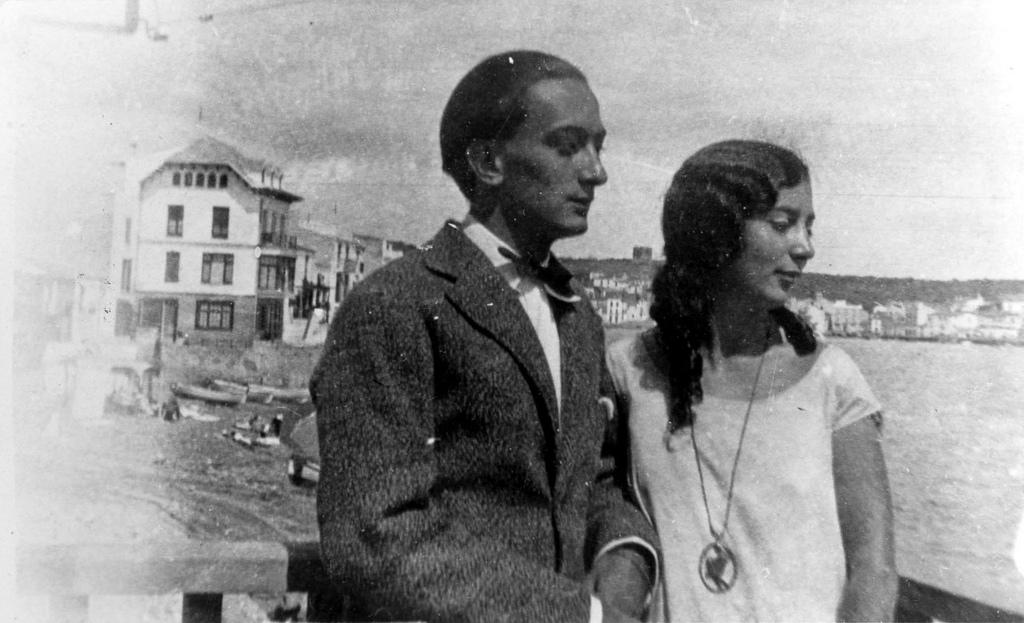 Сальвадор Дали с сестрой Анной-Марией
