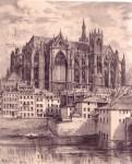 Архитектура   Albert Robida   Cathédrale Saint-Étienne de Metz