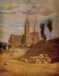 Архитектура | Camille Corot | Cathédrale Notre-Dame de Chartres