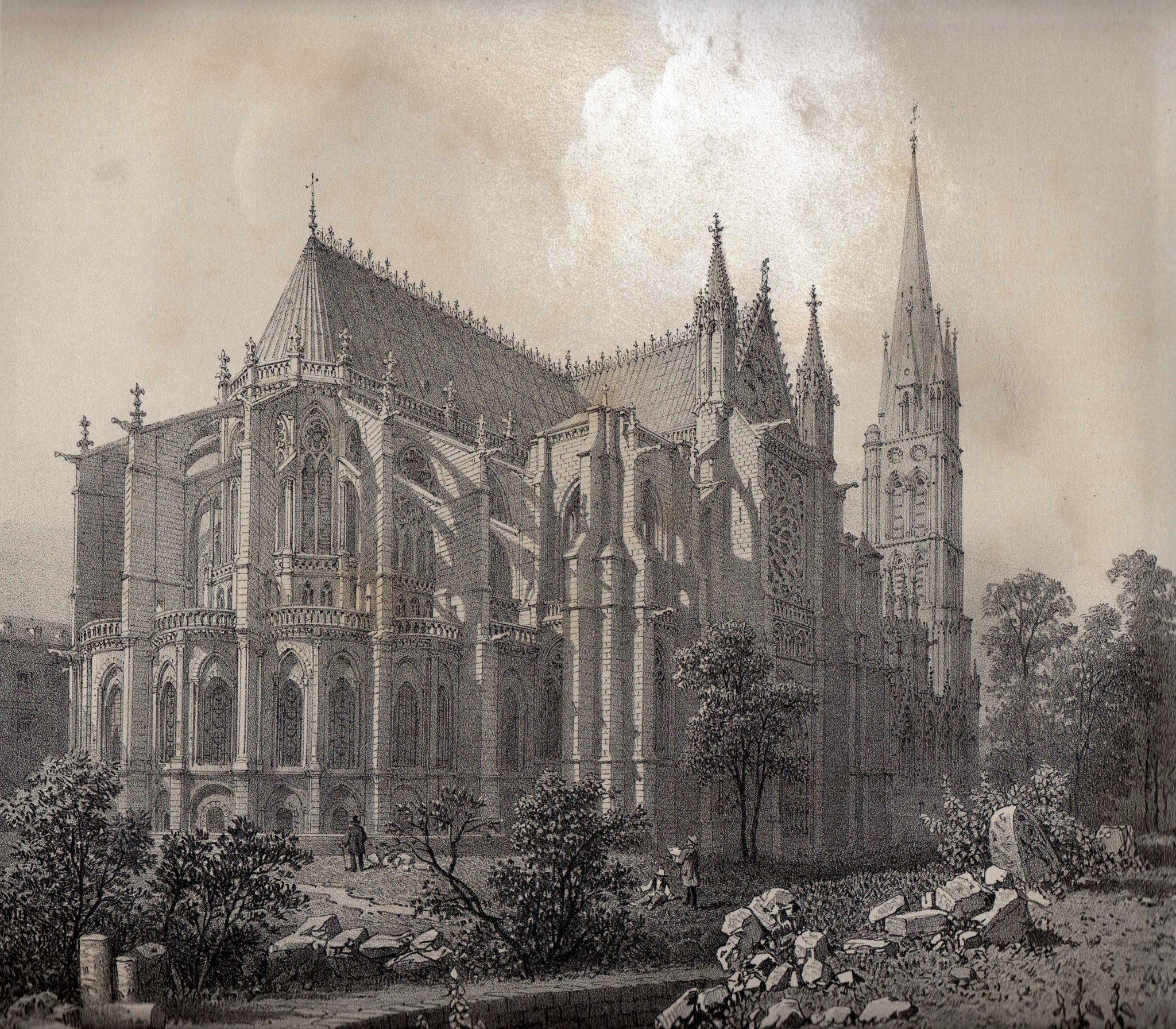 Félix Benoist. la Basilique de Saint Denis