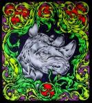 Живопись | Dimson | Тотемные животные | Носорог
