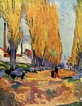 Живопись | Винсент ван Гог | Аликамп. Римский Некрополь. Октябрь, 1888