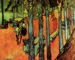 Живопись | Винсент ван Гог | Аликамп. Римский некрополь осенний листопад, 1888