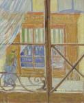 Живопись | Винсент ван Гог | Вид на окно колбасника. Февраль, 1888